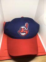 CLEVELAND INDIANS CHIEF WAHOO Snapback MLB Red Blue Baseball Hat Cap Adjustable
