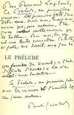 Paul GERALDY avec ENVOI AUTOGRAPHE LE PRELUDE bien relié Edouard VUILLARD
