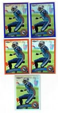 (5) 2011 TOPPS CHROME RANDY MOSS #101 REFRACTOR LOT (2) PURPLE #/499 (2) ORANGE