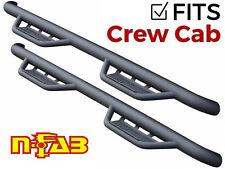 N-Fab Podium LG Steps Txt Black for 08-13 Chevy Silverado GMC Sierra Crew Cab