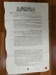 LEGAL DOCUMENT 1819 APPRENTICESHIP INDENTURE OF A POOR CHILD. RADNOR CTY. WALES