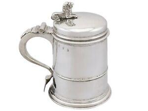 Britannia Standard Silver Quart Tankard Antique Queen Anne 1704