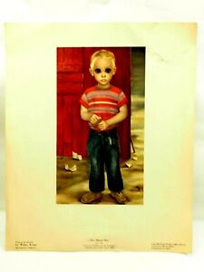 """The Blond Boy by Walter Keane 12"""" x 14.5"""" Lithograph 1960"""
