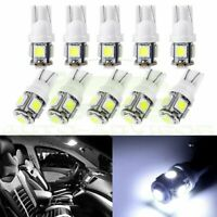 10X White 5-5050SMD LED T10 158 168 194 Wedge Car License Plate Tag Light Bulbs
