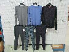 6 EVERLAST M WOMENS CLOTHES MEDIUM FULL ZIP OUTFIT PANTS SHIRTS TOPS WORKOUT LOT