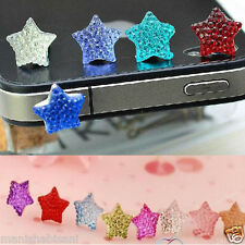 2x Anti Dust Plug five-pointed star ,3.5mm For iPhone iPod Touch HTC Samsung ALL