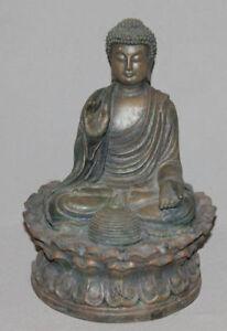 VINTAGE ASIAN PLASTIC BUDHA FIGURINE CANDLE HOLDER