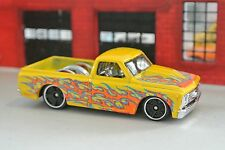 Hot Wheels '67 Chevy C-10 Pickup Truck - Yellow w/ Flames - Loose - 1:64