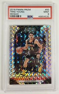 2018-19 Mosaic #93 TRAE YOUNG Rookie RC Prizm - PSA 9
