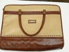 Kathie Lee Collection Briefcase Bag Leather Vintage Computer Bag Tote Browns