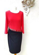 Gina Bacconi black & red cocktail dress. Size 18