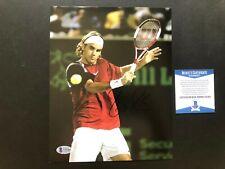Roger Federer Hot! signed autographed tennis legend 8x10 photo Beckett BAS coa