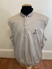 Mens Size Large FootJoy Polo Golf Shirt Tan Sleeveless Vest Riverton Member