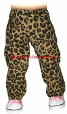 Leopard Print Jean Pants Fits 18 in American Girl Doll Clothes