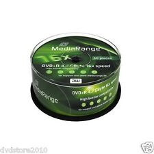 50 DVD +R MediaRange DVD+R 4.7GB 120 minuti Vergini 16x speed GB Cake 50 MR445