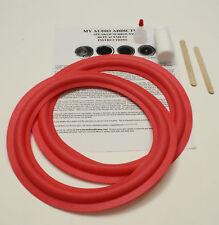 """Foam Speaker Surround Repair Kit For Cerwin Vega 10"""" All Red !"""