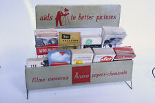 Ansco Camera Store Literature Counter Stand Advertising Display Rack
