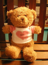 "STEVEN SMITH PLUSH GOLDEN BEAR ERIN 10"" SHIRT PINK boys & girls"