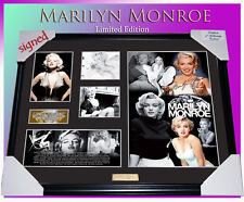 NEW! MARILYN MONROE MEMORABILIA SIGNED FRAMED, LIMITED EDITION TO 499 w/ C.O.A