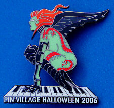 PINVILLAGE NAKED HALLOWEEN WINGED VAMPIRE DRAGON TATTOO GIRL PIANO HRC PIN LE LH