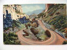 Linen Postcard Williams Canon Manitou Colorado Curt Teich New c.1935