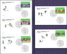 BRD 2003: Fußball-WM! Sport-FDC der Nr. 2324-2328 mit Berliner Stempeln! 1804