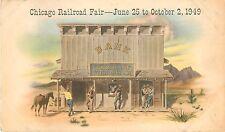 1949 Chicago Railroad Fair Bank Of Gold Gulch - Illinois Postcard