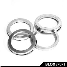 A set 4pcs Hub centric ring ID=57.1 OD=66.5 Aluminum Alloy center ring for Audi