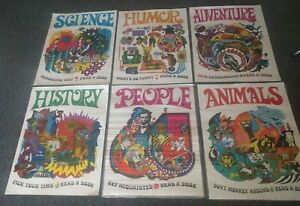 1968 Teacher 6 Poster Set Scholastic Arrow Laugh-In Very Rare Original Beauty