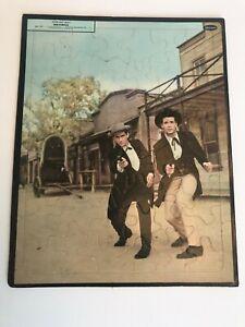 MAVERICK TV SHOW Frame Tray Puzzle James Garner Tv Western - 1959
