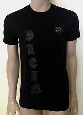 Men's Cotton Philipp Plein Shiny Diamonds Skull Black T-shirt - Size M