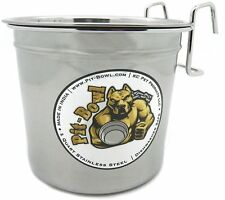 1 Pit-Bowl Stainless steel, Hook-On Dog water crate bowl (2 to 2.25 quart)