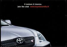 cartolina pubblicitaria PROMOCARD n.2697 TOYOTA MOTOR CAR COROLLA AUTOMOBILE