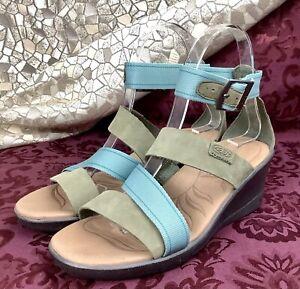 rare KEEN SKYLINE Pastel Ankle Strap Wedge Heel Sandal 37 women 6.5