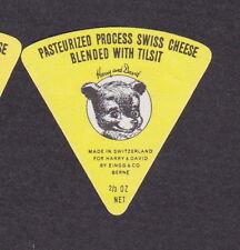 Ancienne  petite étiquette fromage Royaume Uni Suisse BN16793 Ourson Ours 2