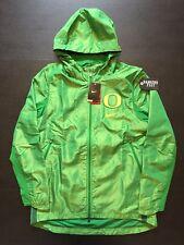 Nike Oregon Ducks Game Jacket  Apple Green Puddles on Hood Mens Sz M $200