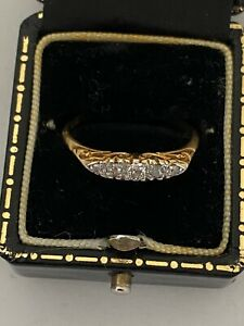 Antique 18carat gold eternity ring 0.10ct old cut diamonds size S approx 10mm