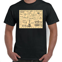 Woodworking Tools, Antique Illustration T-Shirt, NWT, All Sizes & Styles