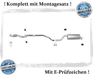Auspuffanlage Opel Corsa D 1.2 Auspuff Mittelrohr Endtopf Flexrohr Montagesatz