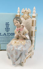 LLADRO Figurine ATTENTIVE VALENCIAN GIRL #1396 Appreciation BOX MINT Retired