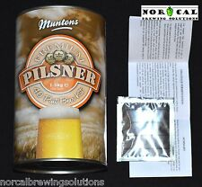 Homebrew Beer Recipe Kit Muntons PREMIUM PILSNER LAGER 6 Gallon Urquell