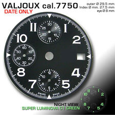 DIAL FOR MOVEMENT CHRONOGRAPH VALJOUX 7750, (DATE ONLY) BLACK, Ø 29.5mm