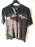 North River Outfitters Mens Shirt Vintage Cars Short Sleeve 3 Button Large black