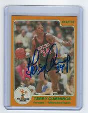 1984-85 BUCKS Terry Cummings signed card Star Co #125 AUTO Autographed Milwaukee