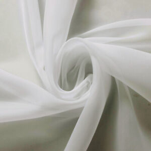 OFF white Voile Fabric by the meter 150cm and 300cm Wedding Event Ceiling Drapes