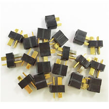 10 pairs Black T Plug Connectors Male Female for Deans For RC Lipo Battery cable