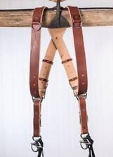Large Chestnut Bridle Leather HoldFast MoneyMaker Luxury Multi-Camera Strap UK