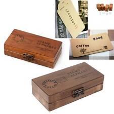 30  pcs Retro Alphabet Letter Uppercase Lowercase Wooden Rubber Stamp Set Craft