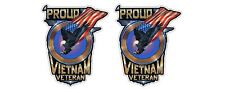 2x A Proud Vietnam Veteran Retro Sticker Decal Army Navy Air Force