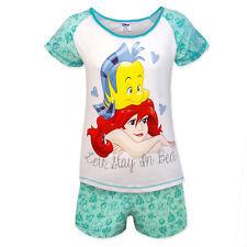 Disney Minnie Mouse Eeyore Little Mermaid Official Gift Ladies Short Pajamas Green Z01 24654 8-10